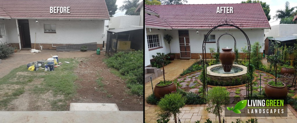 before after garden area